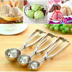 Ice Cream Mash Potato Scoop Spoon Stainless Steel Small - Medium - Large