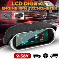 Universal car tachometer - 50-9999RPM - LCD digital display - RPM meter
