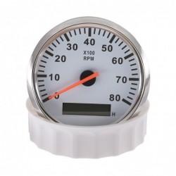 Boat / car tachometer - speed meter gauge - LCD - 12V/24V - 8000 RPM - 52mm / 85mm