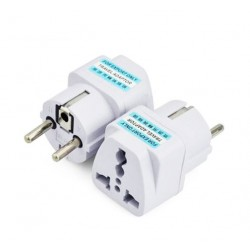 UK US AU to EU Power Plug Converter Adapter