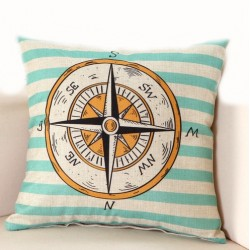 Ocean patterns - pillowcase / cushion cover - case 45 * 45cm