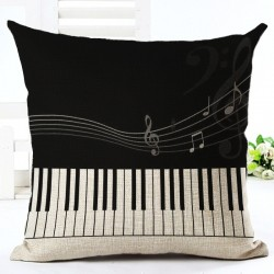 Music notes - theme - cushion cover - cotton 45 * 45cm