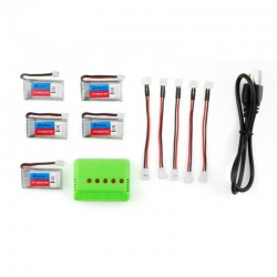 5X Eachine E011 E011C JJRC H67 3.7V 260MAH 30C battery charger set RC Quadcopter