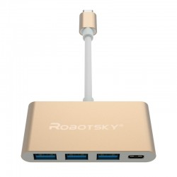 Robotsky UBS 3 Type C to USB 3 HUB Converter Super Speed OTG Adapter Cable