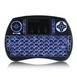 iPazzPort Wireless Mini Keyboard Touchpad With LED Backlight |