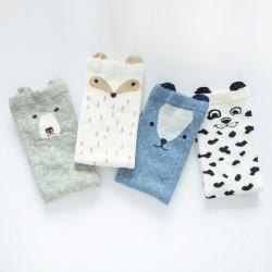 Boys Girls 3D Animals Warm Kids Socks 4pair