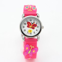 3D Cartoon Butterfly Design Kids Analog Watch