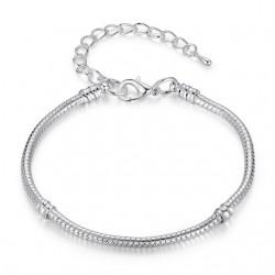 Silver Love Snake Bracelet