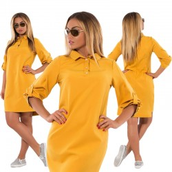 Plus Size Casual Dress Loose Straight Blouse