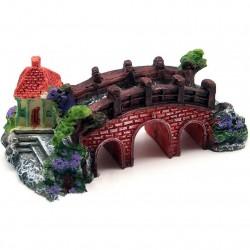 Aquarium Fish Tank Resin Bridge Castle