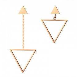 Hollow Out Asymmetrical Triangles Earrings