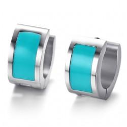 Small silver hoops earrings
