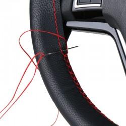 DIY car steering wheel cover repair with needle & thread