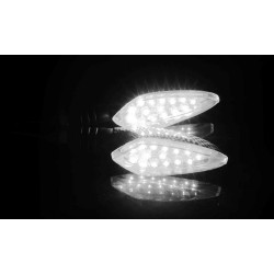 Universal 12V LED motorcycle waterproof amber light turn signal indicators 2 pcs