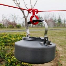 Multifunction outdoor camping aluminum rope hanger buckle 5 pcs