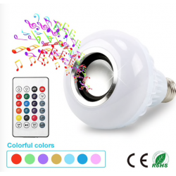 E27 Smart RGB LED Bulb With Bluetooth Speaker