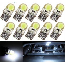T10 W5W LED COB car light lamp bulb10 pcs