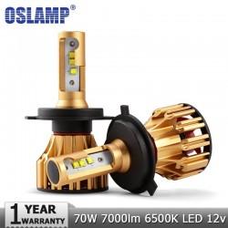Oslamp LED Headlight Bulbs H4 - H7 - H11- 9005 - 9006 70W 7000LM 6500K