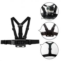 GoPro Hero & Xiaomi Yi GP27 adjustable chest strap belt tripod harness mount