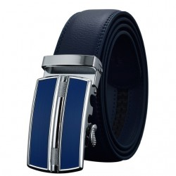 Automatic buckle leather belt