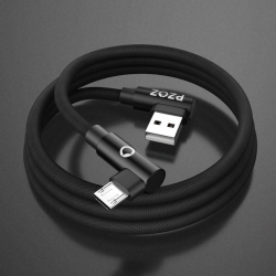 Fast charging micro USB charging cable L-type