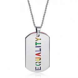 EQUALITY double layer pendant necklace unisex
