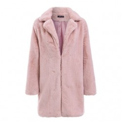 Elegant long fur plush teddy coat jacket
