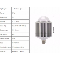 60W - 120W - 180W LED COB grow lamp light indoor hydroponic