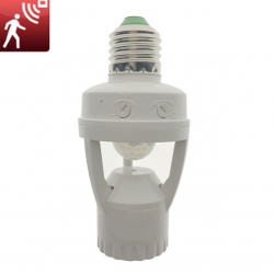 E27 light bulb with Infrared PIR motion sensor