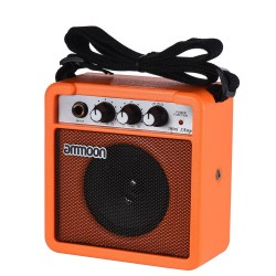 Portable mini 5W amplifier & speaker for guitar and ukulele - build-in battery