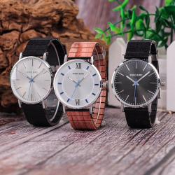 Elegant wooden quartz watch - unisex