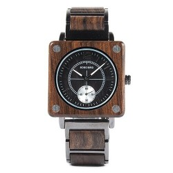 Sandalwood quartz modern watch