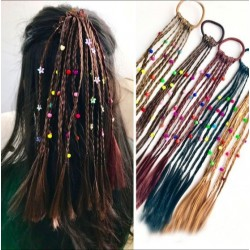Kids handmade wig - elastic hair band with beads