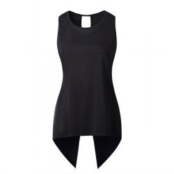Cross irregular blouse - elegant top