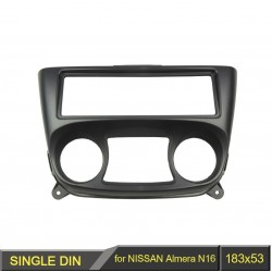 1 Din for Nissan Almera N16 2000-2006 - radio DVD stereo panel dash frame