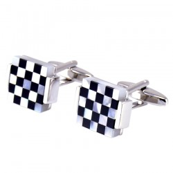Trendy square lattice - cufflinks