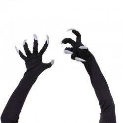 Halloween gloves with long fingernails