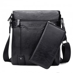 Fashionable leather crossbody & shoulder bag with wallet*