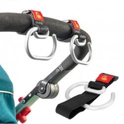 Universal baby stroller hook - aluminum clip