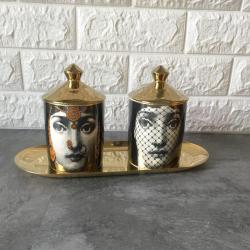 Handmade candle holder - storage box