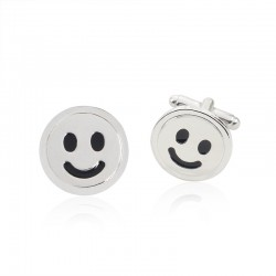 Smiling face - cufflinks