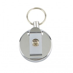 Stainless steel roll up retractable wire cable chain keychain