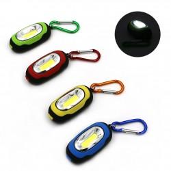 Mini COB LED 3-modes flashlight with karabiner