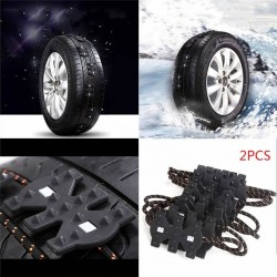 Winter anti-skid universal wheel tire emergency chain 2 pieces