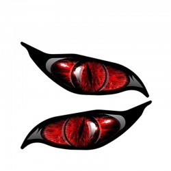 Red zombie eyes - vinyl car sticker 13 * 5 cm 2 pieces