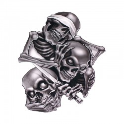 Car sticker with skull heads 17.3 * 15cm