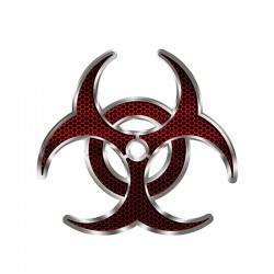 Biohazard red hex - vinyl car sticker 12 * 12cm