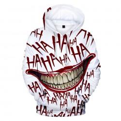 Hoodie with 3D joker print
