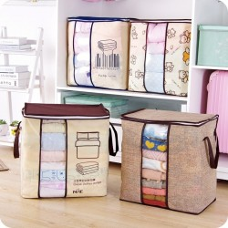 Non-woven portable clothes storage bag - foldable organizer