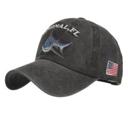 Vintage original Shark - embroidery cotton baseball cap - unisex